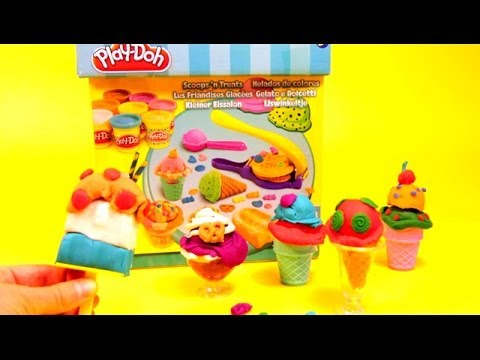 PLAY DOH Ice cream & cupcakes playset playdough by Unboxingsurpriseegg