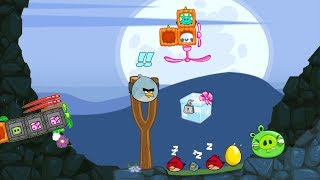 Bad Piggies - ALIEN TRY TO PICK THE CRATE WHICH PROTECTED BY ANGRY BIRDS!