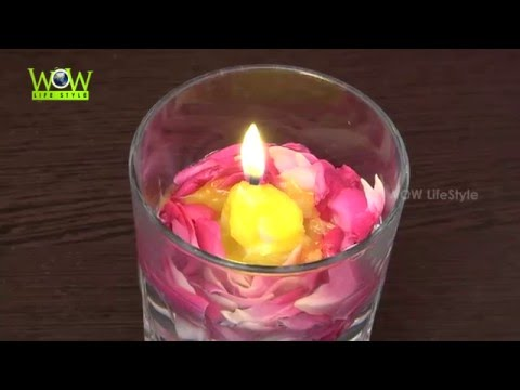 Valentines Day Special Dinner Ideas | DIY Beautiful Water Candle Light