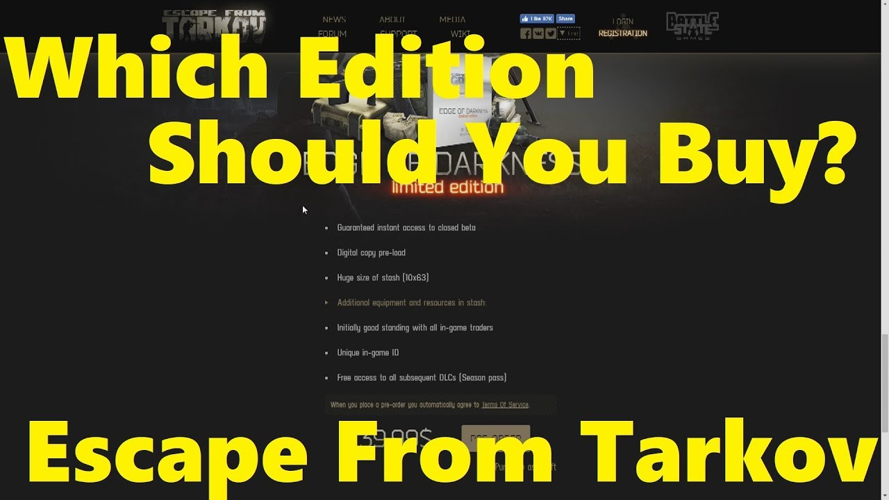 Which Edition Should You Buy? | Escape From Tarkov