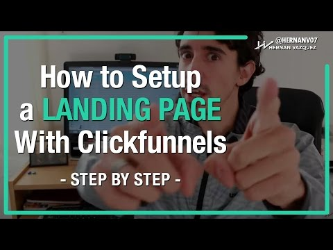 How To Create a Lead Capture Landing Page on ClickFunnels (Step by Step) - Hernan Vazquez