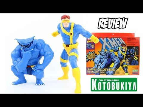 Ciclope e Fera 2-pack coleção ArtFX do desenho dos X-Men 92 da Kotobukiya - Unboxing e Review