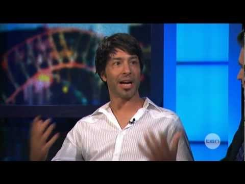 Arj Barker interview on The Project (2012)
