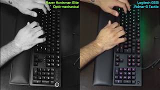 SOUND TEST: Razer Huntsman Elite & Logitech G513 Tactile