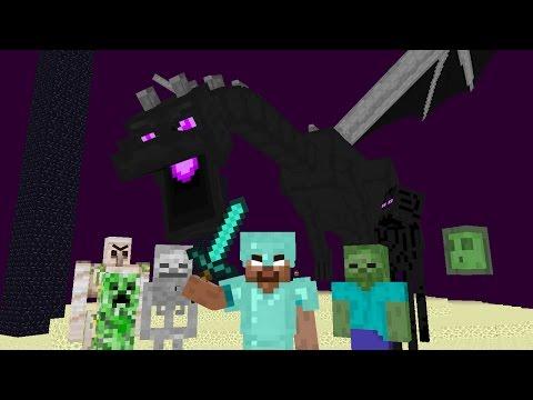 Monster School Kill the Elder dragon - Minecraft Animation