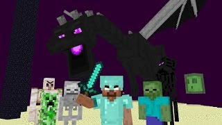 Monster School : Kill the Ender dragon - Minecraft Animation