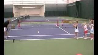 TennisDrills.tv (Little Kids Warm Up 36 ft. Tennis Drill Sample)