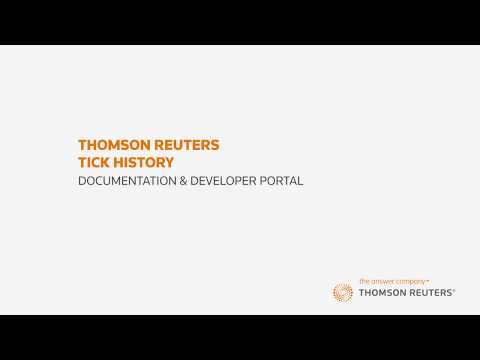 Thomson Reuters Tick History – Part 7: Documentation & Developer Portal
