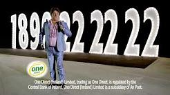 Pat Shortt One Direct TV ad. One Direct Car Insurance 1890 222222