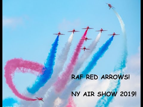 2019 New York Air Show - RAF RED ARROWS- Royal Air Force - SATURDAY, August 24th, Stewart Airport