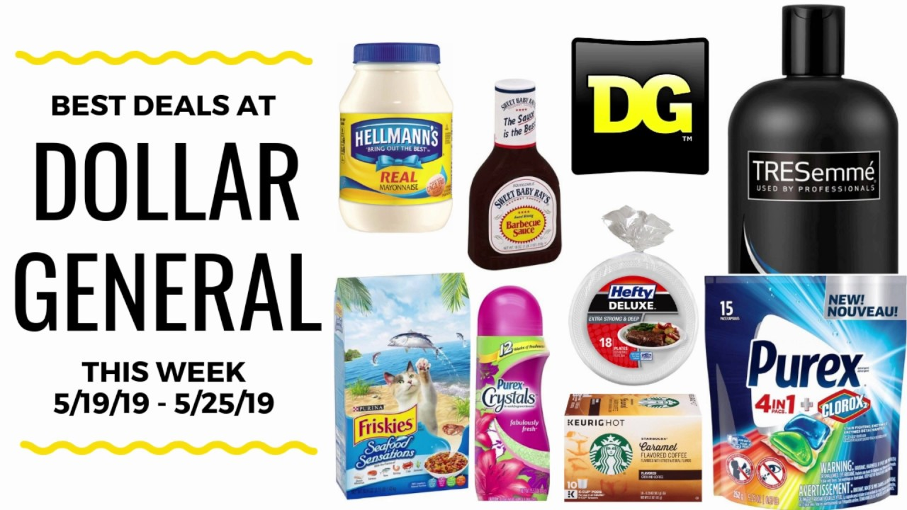 Best Deals at Dollar General this Week 5/19-5/25/19 - YouTube