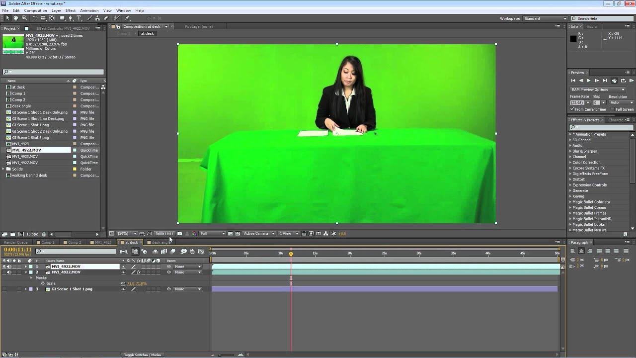 Virtual Set Tutorial Green Screen Outlet