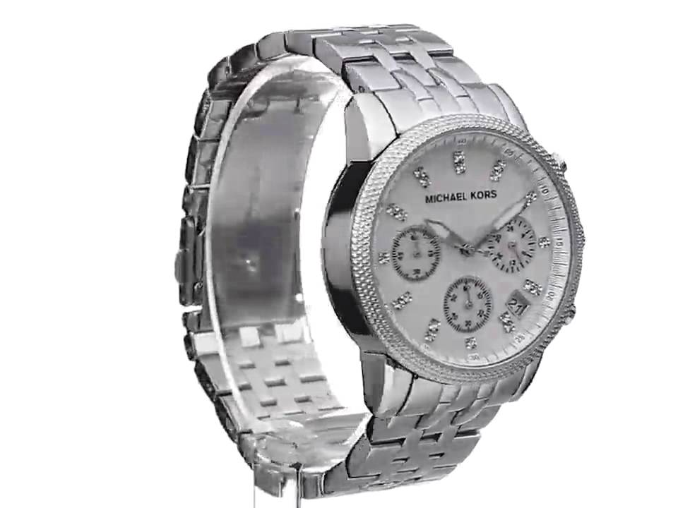 305e59e8d6ed Michael Kors Women s Ritz Silver-Tone Watch MK5020 - YouTube