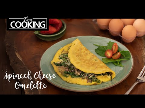 Spinach Cheese Omelette | Egg Recipes | Breakfast Recipe | Healthy Recipes