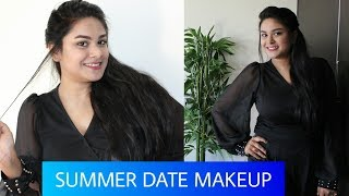 SUMMER DATE MAKEUP In 10 Mins | QUICK SUMMER PARTY LONG LASTING MAKEUP TUTORIAL