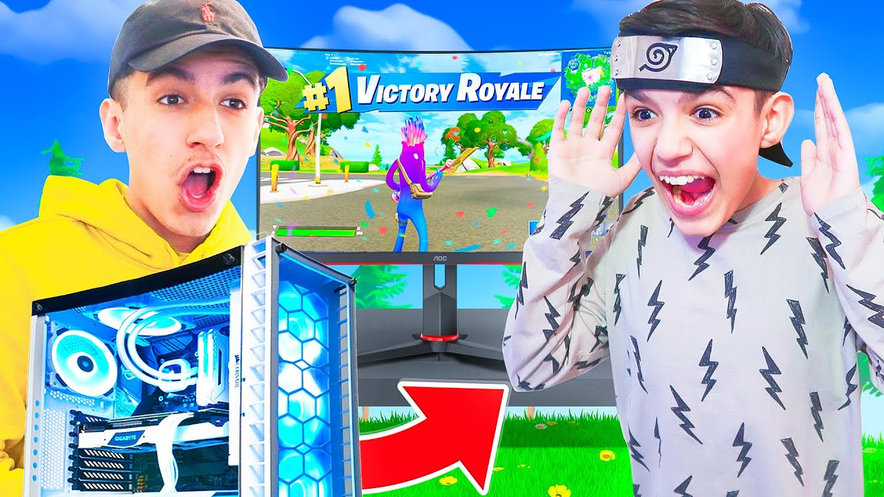 Win A Game Of Fortnite I'll Buy You A New Gaming PC Challenge With Brother!