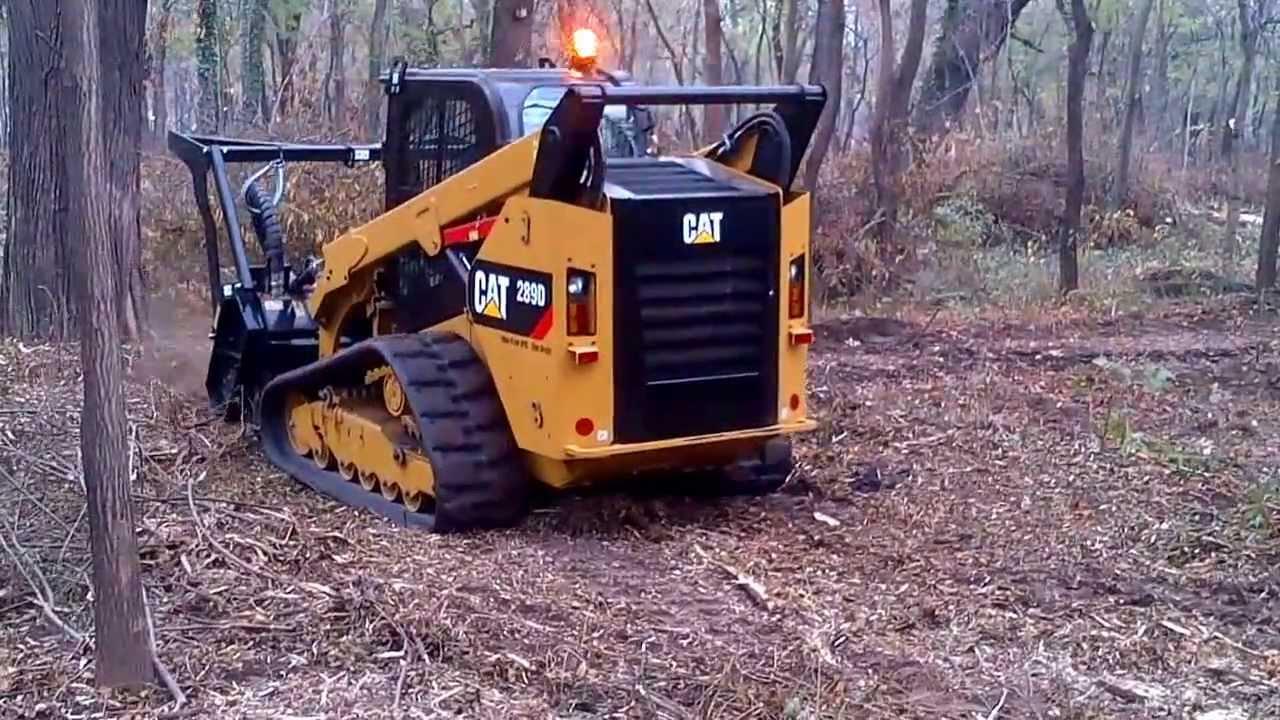 UTILAJ CAT 289 D CU TOCATOARE FORESTIERA-Land Clearing equipment, forestry  mulcher for skid-steers