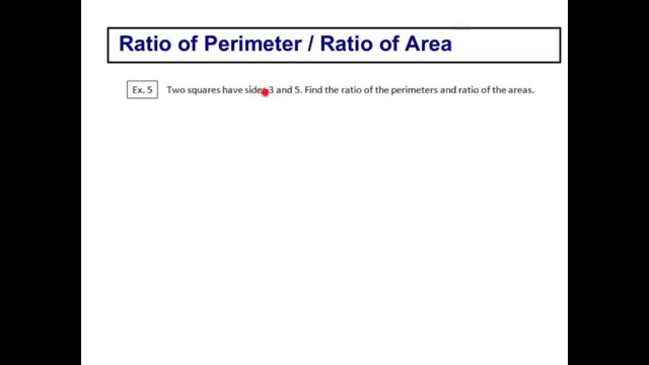 Ratio of perimeter ratio of area youtube ccuart Gallery