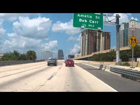 Interstate 4 through downtown Orlando, Florida