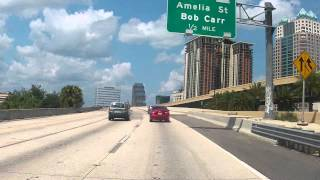 Interstate 4 through downtown Orlando, Florida