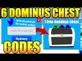 6 DOMINUS HATS CHEST CODES IN MAGNET SIMULATOR! Roblox