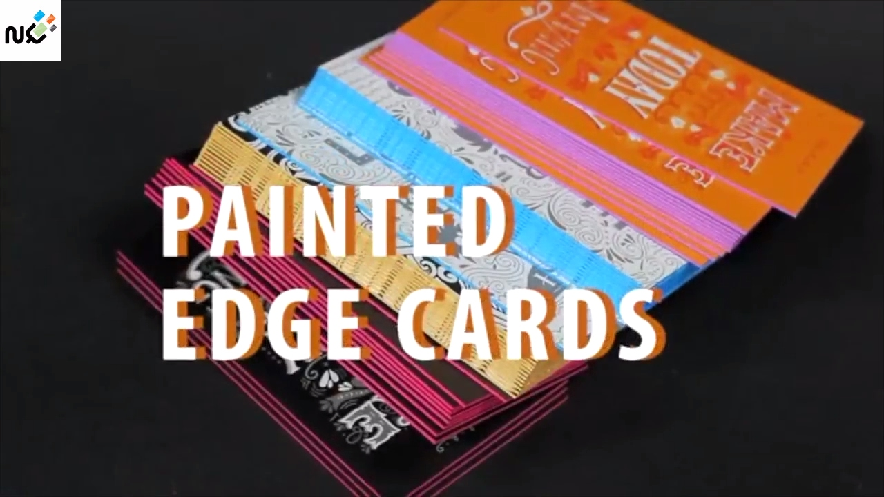 Edge Painted Business Cards - Edge Color Painting - YouTube