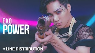Video EXO - Power : Line Distribution (Color Coded) download MP3, 3GP, MP4, WEBM, AVI, FLV Agustus 2018