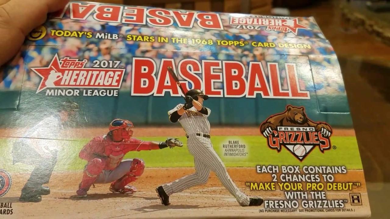 2017 Topps Heritage Minor League Hobby Box Break