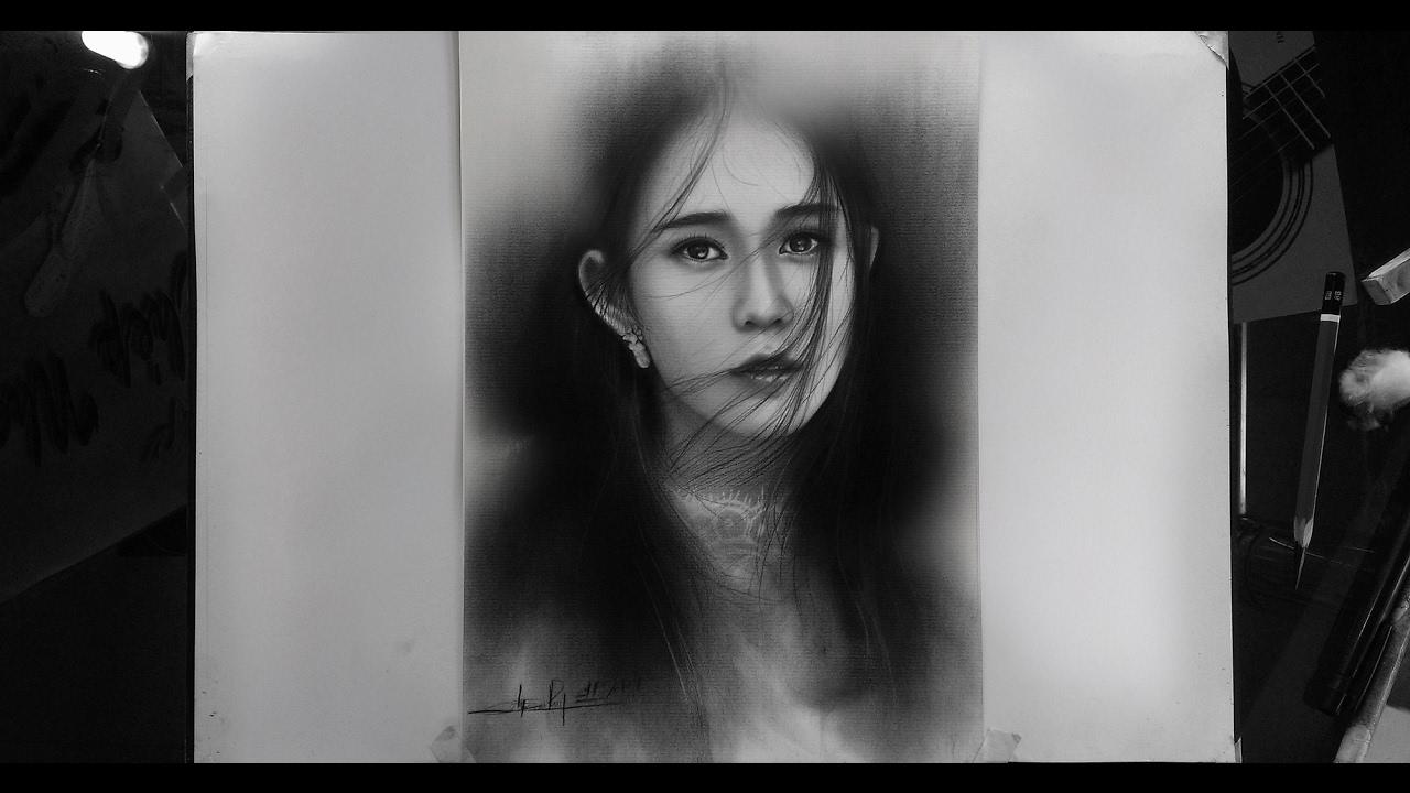 Vẽ chân dung Ngọc Thảo – DP Truong