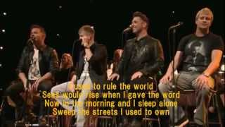 Westlife - Viva La Vida with Lyrics (Live)