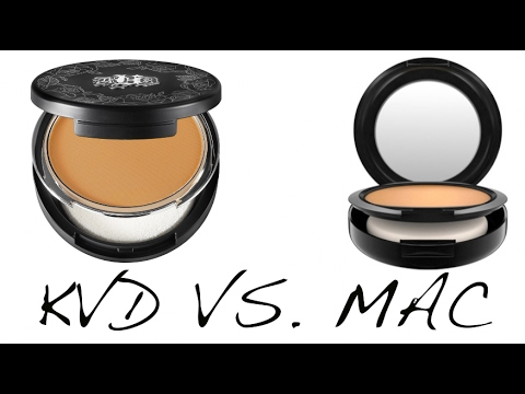 3924605770e95 MAC Studio Fix Powder Plus Foundation vs Kat Von D Lock It Powder Foundation