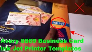 ✅  How To Use Avery 8869 Business Card Ink Jet Printer Templates Review