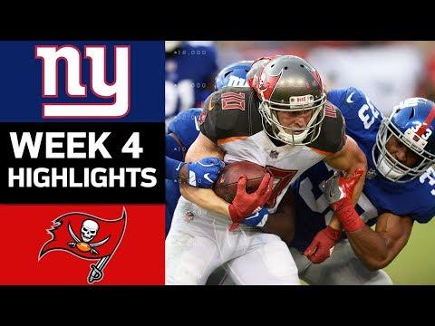 Giants vs. Buccaneers   NFL Week 4 Game Highlights
