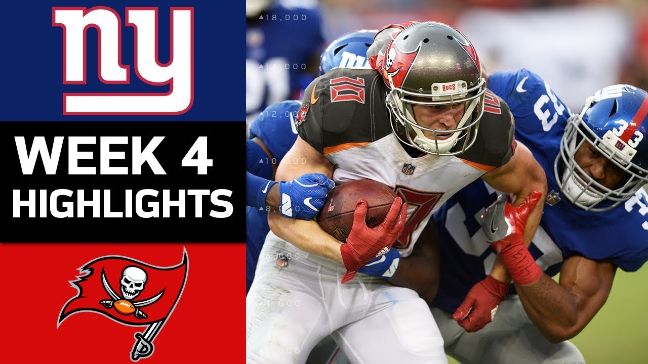 giants vs buccaneers nfl week 4 game highlights youtube giants vs buccaneers nfl week 4 game highlights
