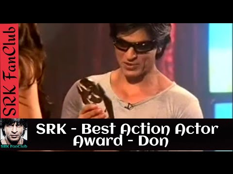 Shah Rukh Khan wins the Best Action Actor Award for Don - AXN