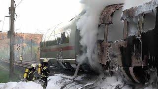 Wagen eines ICE in Brand geraten - 500 Fahrgäste in Sicherheit