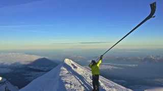 Alexandre Jous, cor des alpes sur le mont blanc