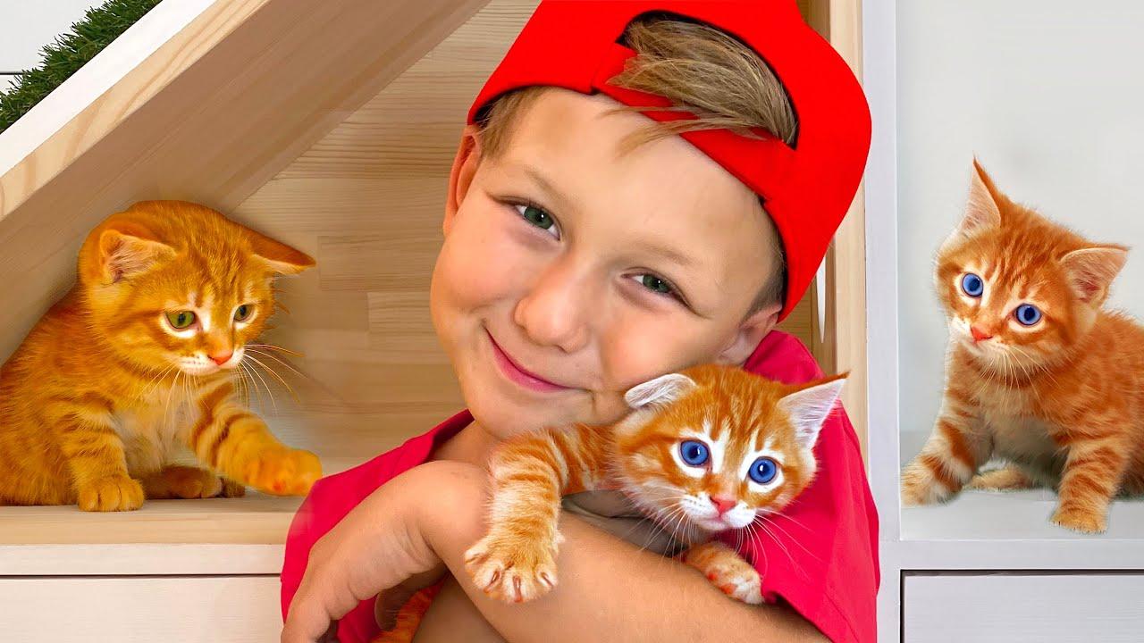 Сеня нашел маленького КОТЕНКА! Что Теперь Скажет Мама? Видео про Котенка