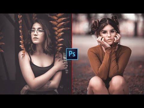 BROWN And WHITE Color Grading Effect In Photoshop | CAMERA RAW FILTER | Photoshop Tutorial