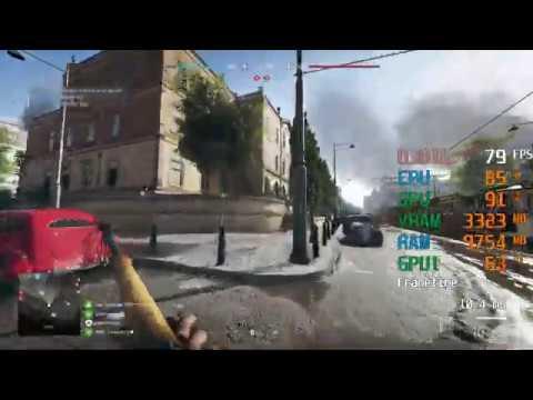 GeForce GTX 1650 SUPER -- Intel Core I5-9400F -- Battlefield V BFV FPS Test