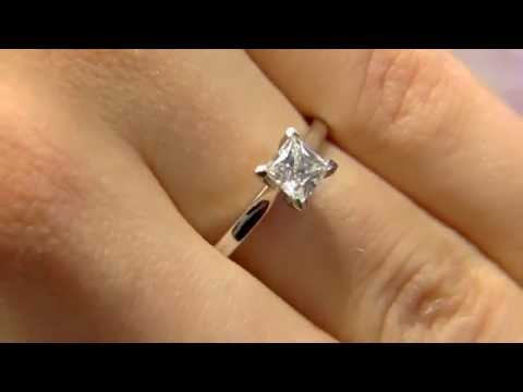 0.70 Carat Princess Cut Solitaire Engagement Ring