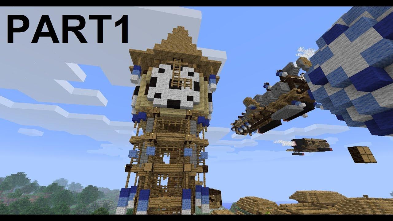 Minecraft Steampunk City Clocktower Project PART1 YouTube