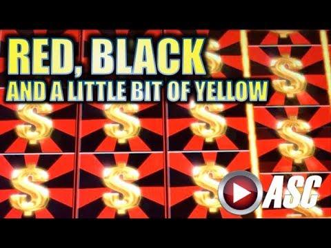 ★NEW SLOT!★ RED BLACK AND A LITTLE BIT OF YELLOW (Aristocrat) MAX BET Slot Machine Bonus - 동영상