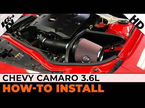 How To Install a K&N Air Intake on a 2012-2014 Chevy Camaro 3.6L