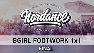 RockShine vs Tanya - Finał 1vs1 na BGirls Footwork na Nordance 2018