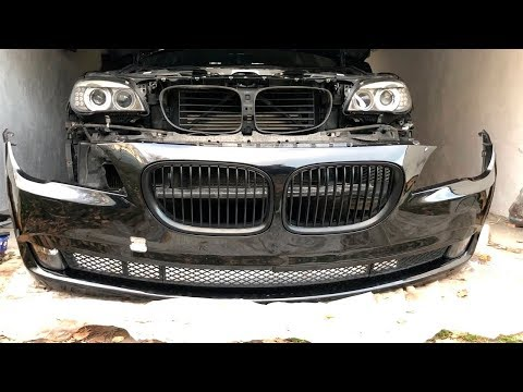 РЕМОНТ BMW НЕ ТАК ПРОСТ. Покраска бампера BMW F01/F02.