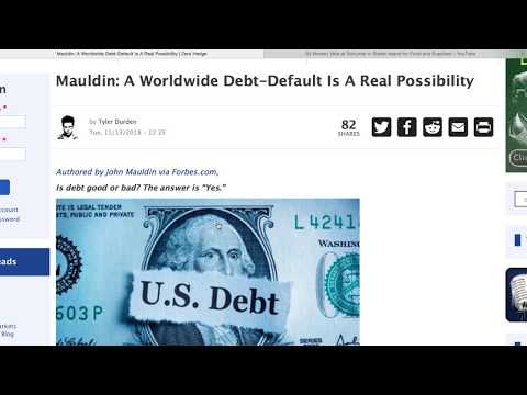 Worldwide Debt-Default Is A Real Possibility.  Reality Check!