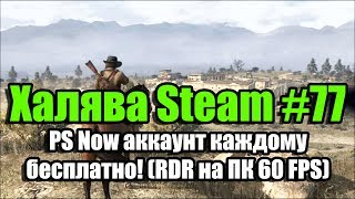 Халява Steam #77 (17.11.18). PS Now аккаунт каждому бесплатно! (RDR на ПК 60 FPS)