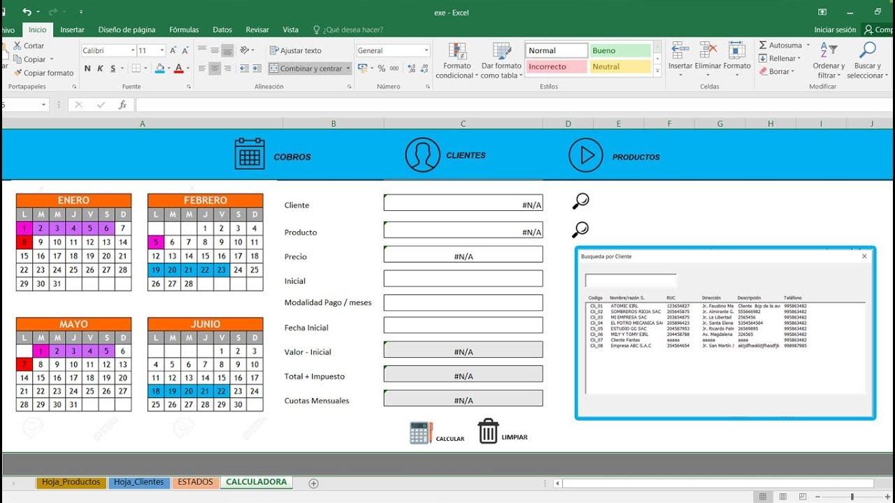 Sistema De Cobros Excel Facturas Vencidad Facturas Por Cobrar Control De Cobros Y Créditos Youtube
