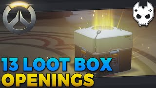 Overwatch Loot Box Opening - SUPER LUCKY - E1 Closed Beta
